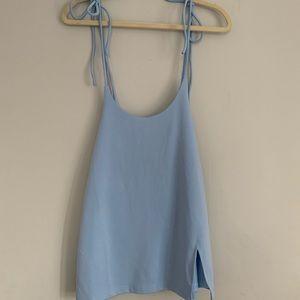 Baby blue pini dress
